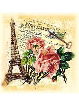 Декупаж на холсте Париж [94611]
