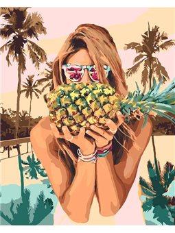Картина по номерам Сочный ананас [КНО4629]