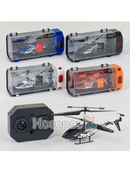Вертолет 33008 (24/4) 3 вида, р/у, гироскоп, аккум, 3-х канальный пульт ДУ, мет+пластик, в кор-ке [к