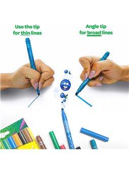 Ароматизовані тонкі змиваються фломастери (10 шт), Silly Scents, Crayola [58-5071]