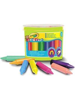 Воскова крейда в діжці для малюків (24 шт), широкі, Mini Kids, Crayola [0784]