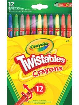 Викручуються кольорові воскові крейди (12 шт), Crayola [52-8530]