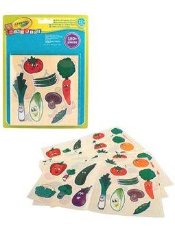 Набор многоразовых наклеек для малышей Овощи и фрукты (180 наклеек), Mini Kids, Crayola [81-2010]