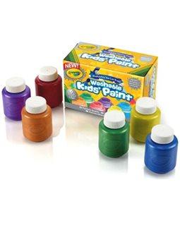 Смываемые акварельные краски цвета металлик (6 баночек по 59 мл), Crayola [54-5000]