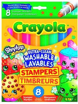 Змиваються фломастери-штампики Shopkins, 8 шт, Crayola [58-8152]