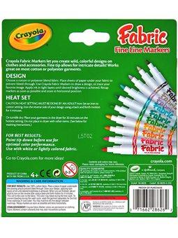 Фломастери для малювання по тканині (10 шт), Crayola [58-8633]