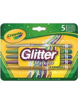 Фломастеры с блестками Glitter markers (5 шт), Crayola [58-8645]