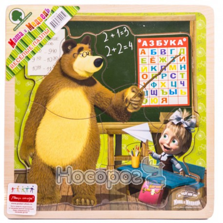 Пазлы деревянные GT6018 Маша и медведь (72)
