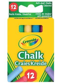 Кольорова крейда зі зниженим виділенням пилу (12 шт), Crayola [0281]