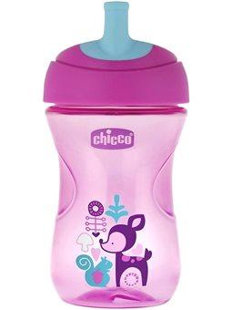 Поїльник-непроливайка Chicco Advanced Cup 266 мл 12м + Рожевий [06941.10.01]