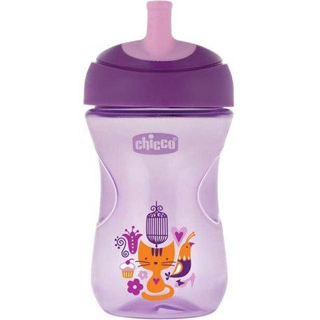 Фото Поильник-непроливайка Chicco Advanced Cup 266 мл 12м+ Розовый [06941.10.01]