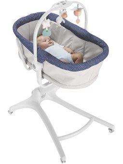 Кроватка-стульчик Chicco Baby Hug 4в1 Серая с синим [79173.00]