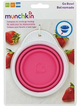 Тарелка дорожная Munchkin Go Bowl Розовая [012377.02]