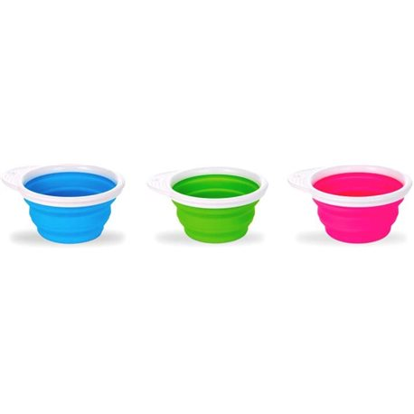 Фото Тарелка дорожная Munchkin Go Bowl Розовая [012377.02]