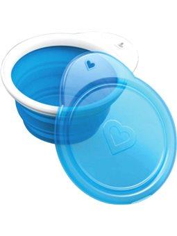 Тарілка дорожня Munchkin Go Bowl Блакитна [012377.01]