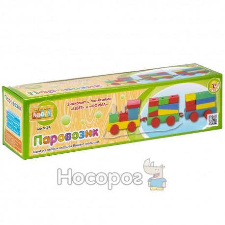 Деревянная игрушка Паровозик MD 0329 каталка (80)