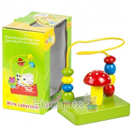 Деревянная игрушка Лабиринт MD 0098 спиральний (72)