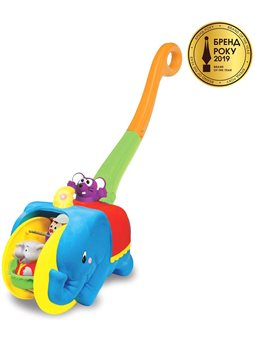 Іграшка-Каталка - Слон-Циркач (Український) [58297]