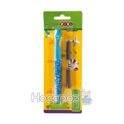 Ручка перьевая ZB 2242 голубая + 2 капсулы