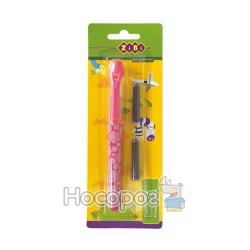 Ручка перьевая ZB 2243 розовая + 2 капсулы