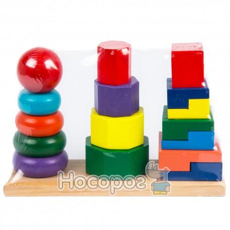 Деревянная игрушка Пирамидка MD 0056 (36)