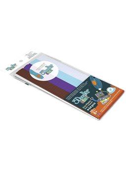 Набор стержней для 3D-ручки 3Doodler Start - МИКС (белый, голубой, коричневый, фиолетовый) [3DS-ECO-MIX5-24]