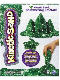 Песок для детского творчества - KINETIC SAND METALLIC (зеленый) [71408Em]