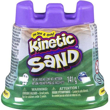 Фото Песок Для Детского Творчества - Kinetic Sand Мини Крепость (Зеленый) [71419G]