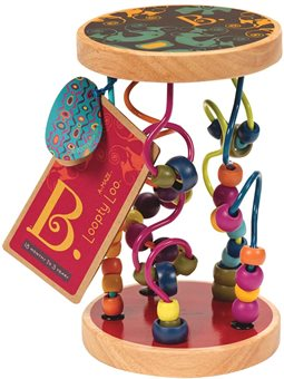 Розвиваюча Дерев'яна Іграшка - Різнобарвний Лабіринт [BX1155]