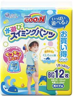 Трусики-Підгузки Для Плавання Goo.N Для Хлопчиків 12-20 Кг, Зростанням 80-100 См (Розмір Big (Xl), 12 шт [853667]