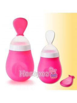 Ложка для первого прикорма Squeeze Spoon розовая