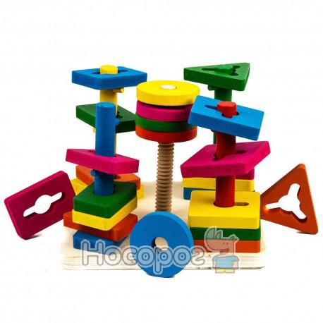 Деревянная игрушка Пирамидка-ключ MD 0061 (48)