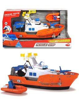 3308375 Катер «Спасательный» с лодкой, со звук. и свет. эффектами, 40 см, 3
