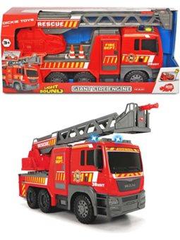 3719017 Пожарная машина «MAN», с лестницей 55-71 см, со звук. и свет. эффектами, 54 см, 3