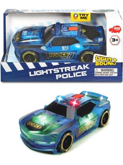 3763001 Скоростной автомобиль «Сполохи света. Полиция »с изменением цвета, звук. и свет. эффектами, 20 см,