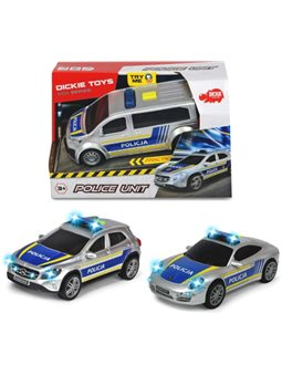 3712014 Автомобиль «SOS.Полиция», со звук. и свет. эффектами, 15 см, 3 вида, 3