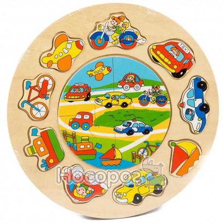 Деревянная игрушка Рамка-вкладыш MD 0521 с пазлами (72)