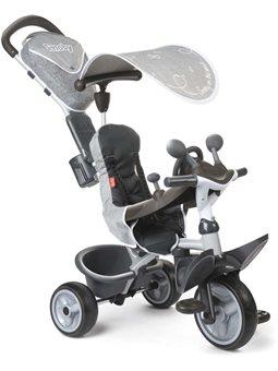 741202 Дитячий металевий велосипед Комфорт з козирком та багажником, сірий, 10 міс.+