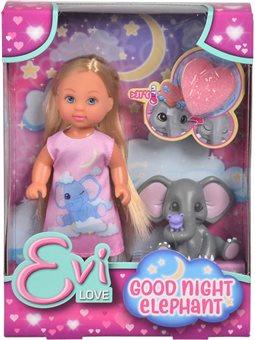 """5733355 Кукольный набор Эви """"Спокойной ночи"""" с слоненком и аксес., 3"""