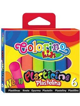 Пластилин 6 neon цветов