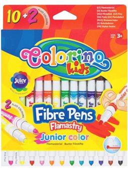 Фломастеры Junior 10 + 2 fluo цветов