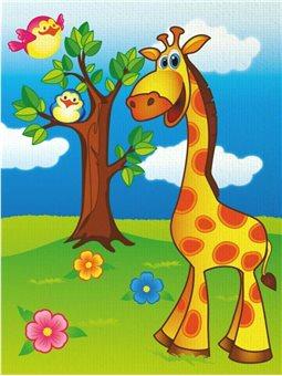 """Роспись по холсту """"Весёлый жирафик"""" (7100)"""