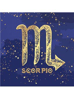 """Картина по номерам """"Знак зодиака Скорпион"""" с краской металлик Идейка (КН9513)"""