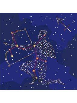 Картина по номерам - Звездный знак Стрелец с краской металлик (КН9511)