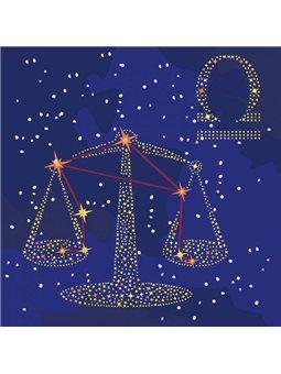 Картина по номерам - Звездный знак Весы с краской металлик (КН9503)