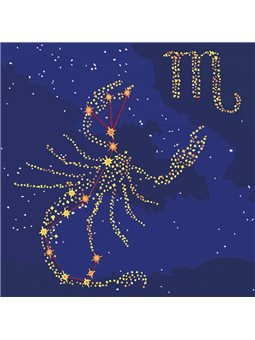 Картина по номерам - Звездный знак Cкорпион с краской металлик (КН9501)