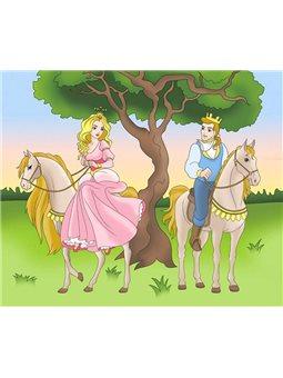 """Роспись по холсту """"Принц и принцесса"""" (7143)"""