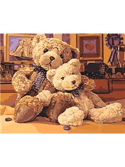 Картины по номерам - Братец-медвежонок (КНО4126)