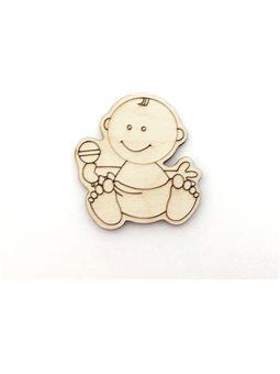 Фигурка на магните - Малыш с игрушкой (2-039)
