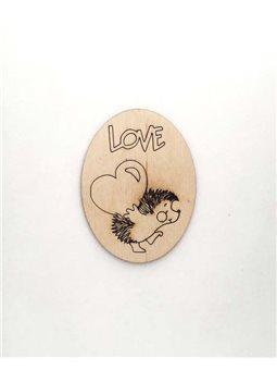 Фигурка из фанеры - LOVE 1 (2-085)